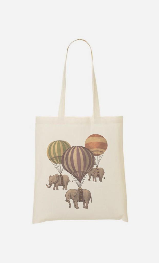 Stoffbeutel Flight Of Elephants