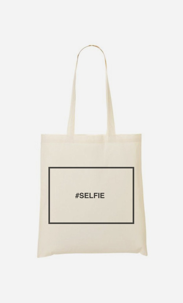 Stoffbeutel Hashtag Selfie