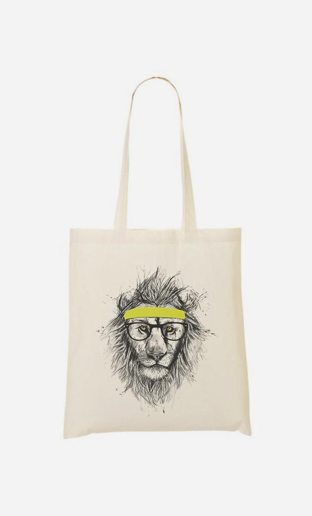 Stoffbeutel Hipster Lion