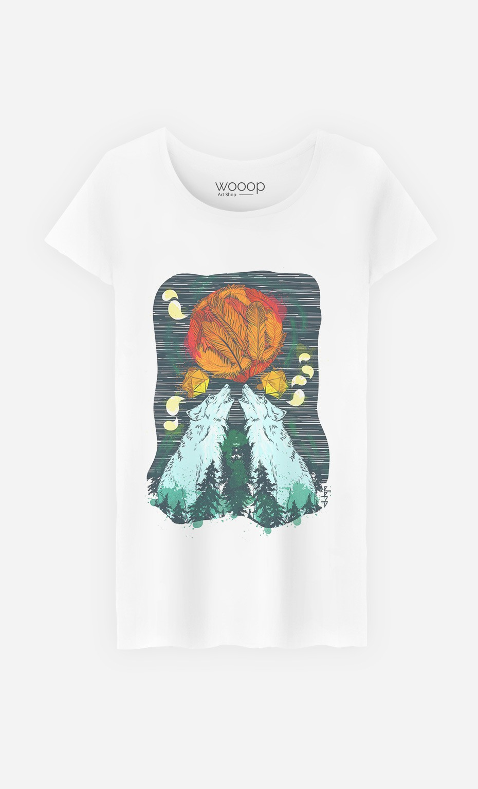 T-Shirt Two Wolves