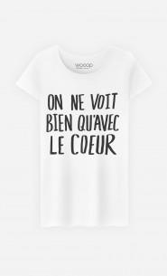 """T-Shirt Cute """"Avec Le Cœur"""""""