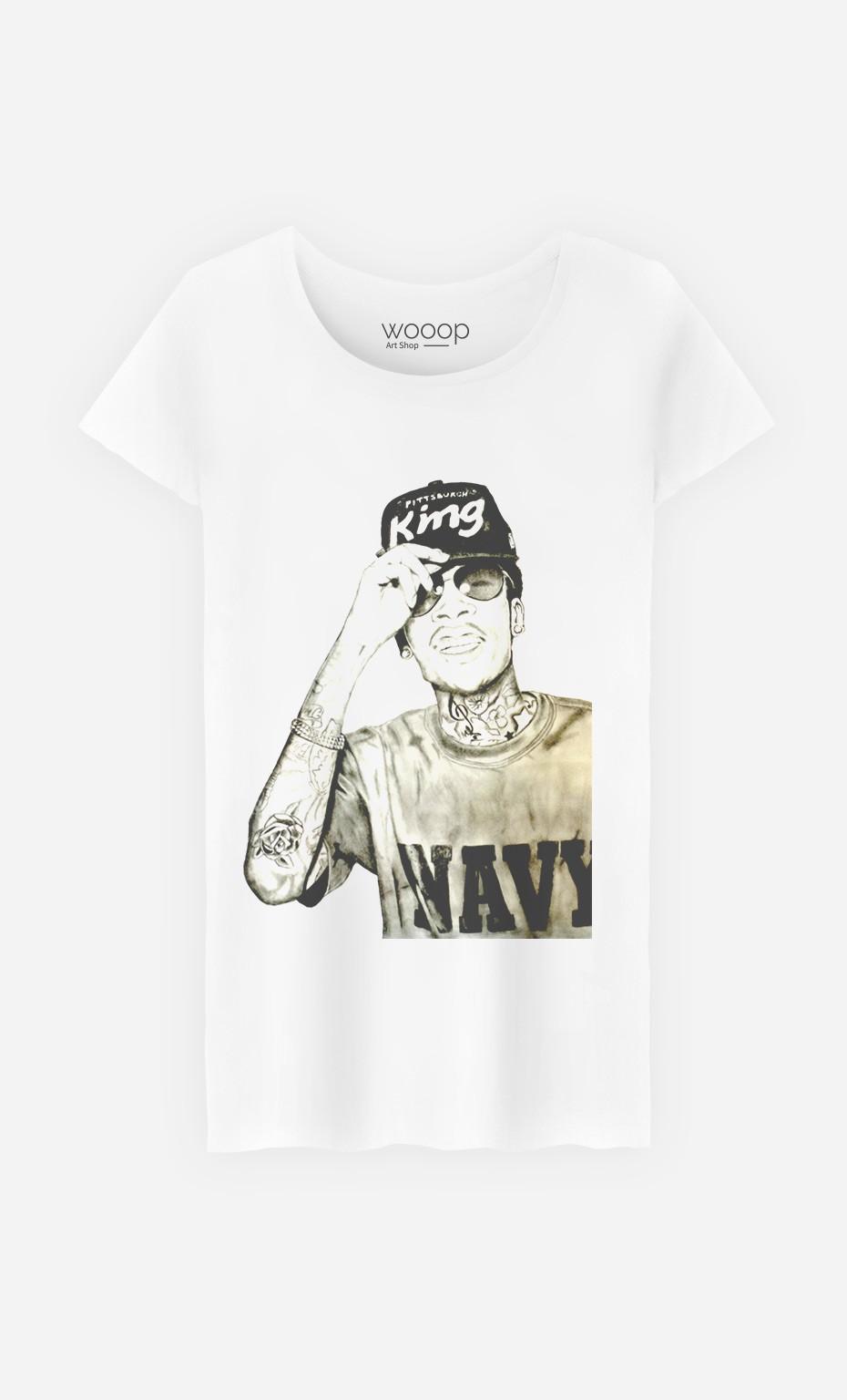 T-Shirt Wiz Khalifa Navy