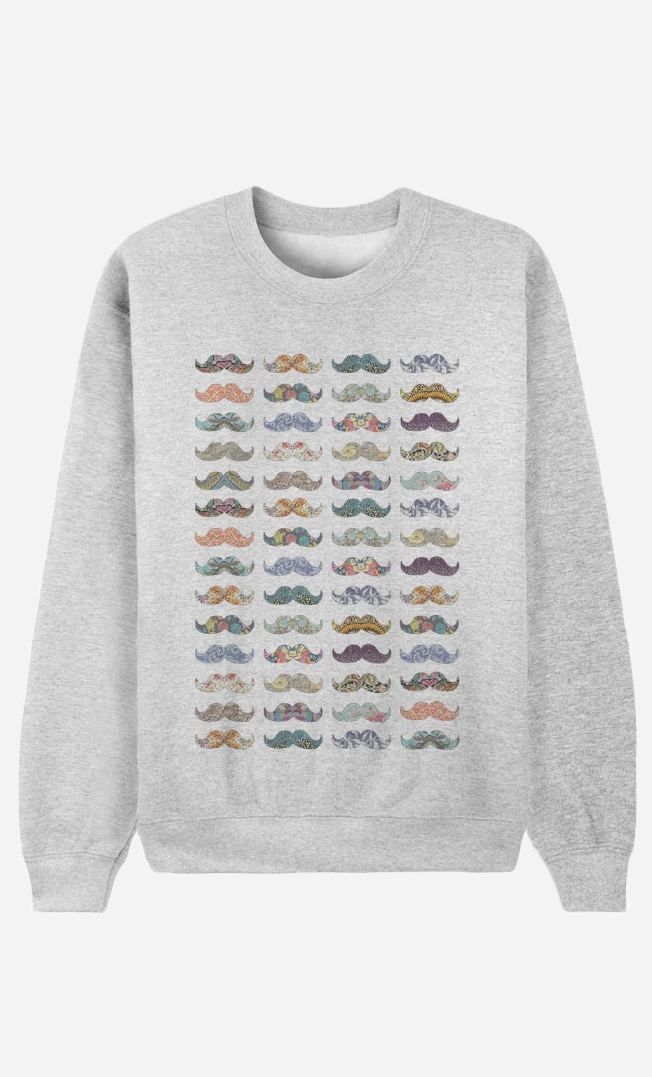 Sweatshirt Moustache Mania