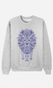 Sweatshirt Lion Blue