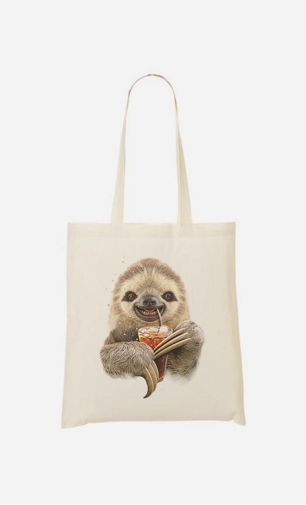 Stoffbeutel Sloth & Drink