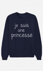 Blaue Sweatshirt Je Suis Une Princesse