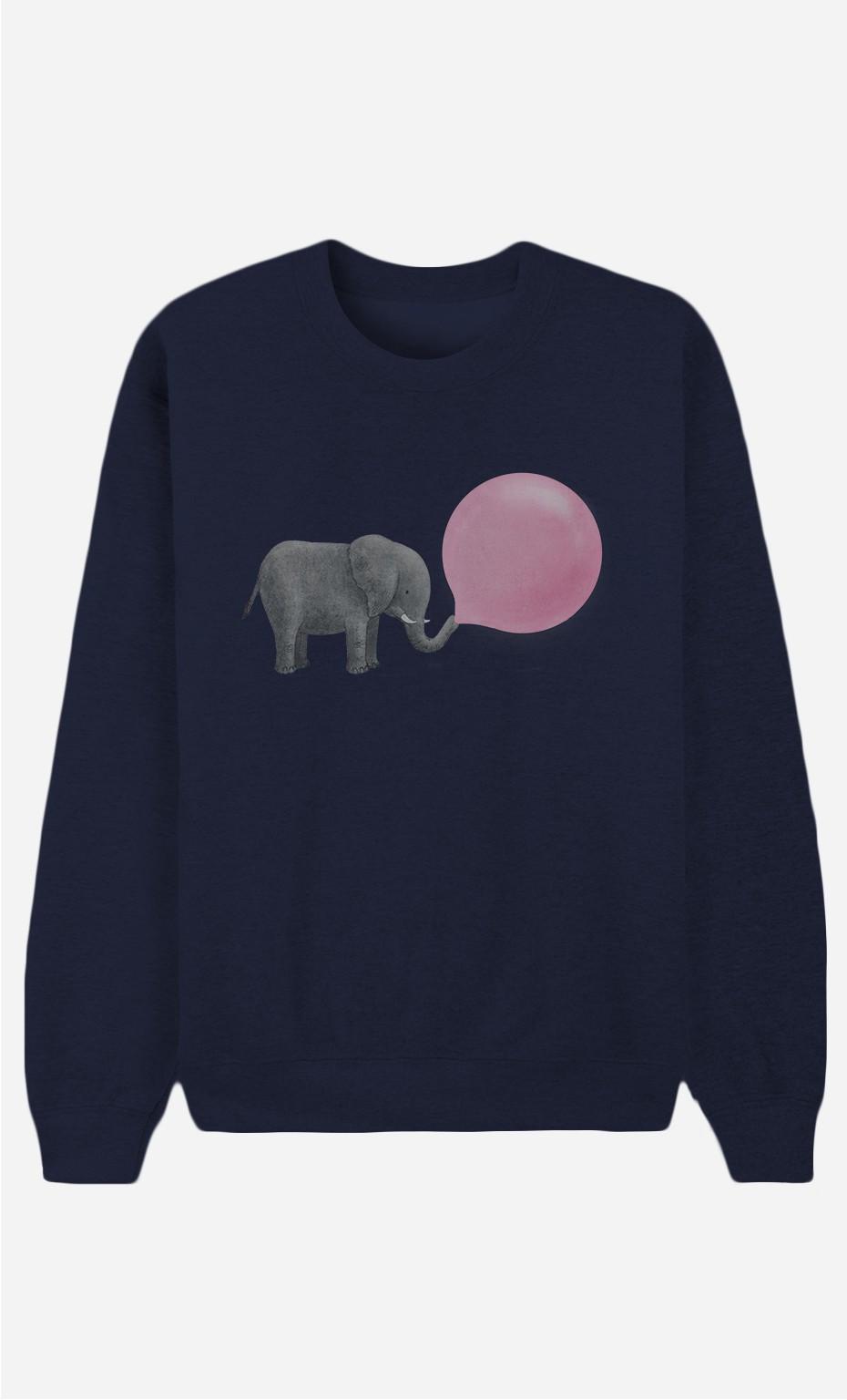 Blaue Sweatshirt Jumbo Bubble Gum
