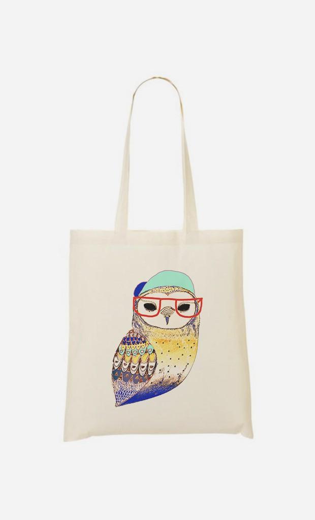 Stoffbeutel Hipster Owl