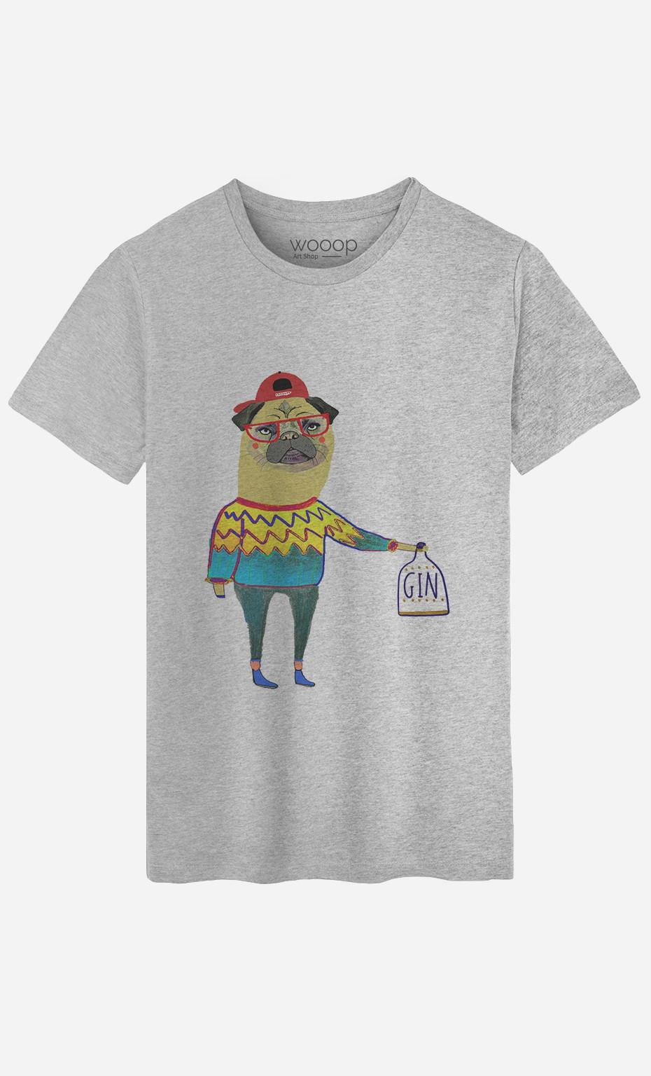 T-Shirt Gin Pug