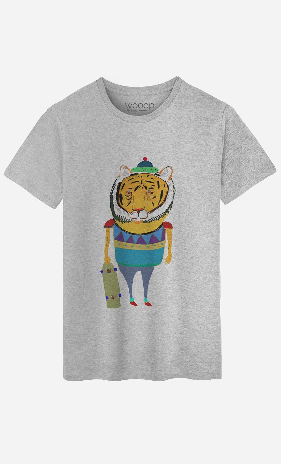T-Shirt Tiger Skater