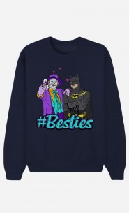 Blaue Sweatshirt Joker & Batman