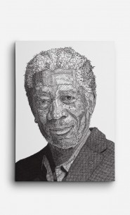 Leinwand Morgan Freeman