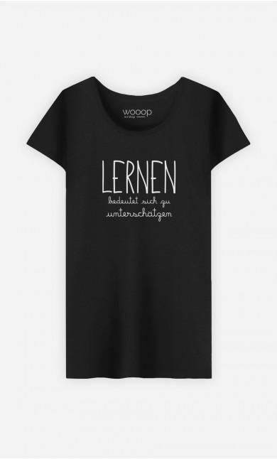T-Shirt Schwarz Lernen