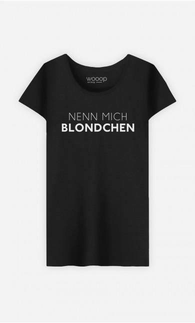 T-Shirt Schwarz Nenn mich Blondchen