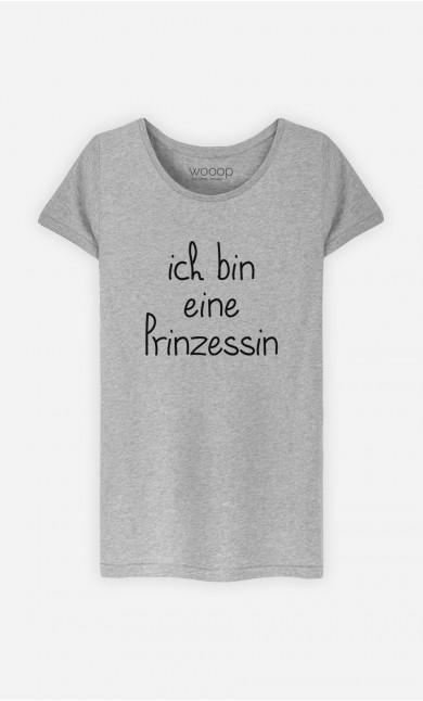 T-Shirt Grau Ich bin eine Prinzessin