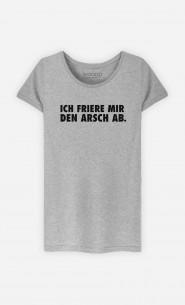 T-Shirt Grau Ich friere mir den Arsch ab