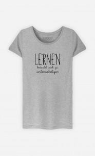 T-Shirt Grau Lernen