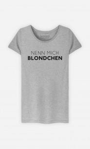 T-Shirt Grau Nenn mich Blondchen