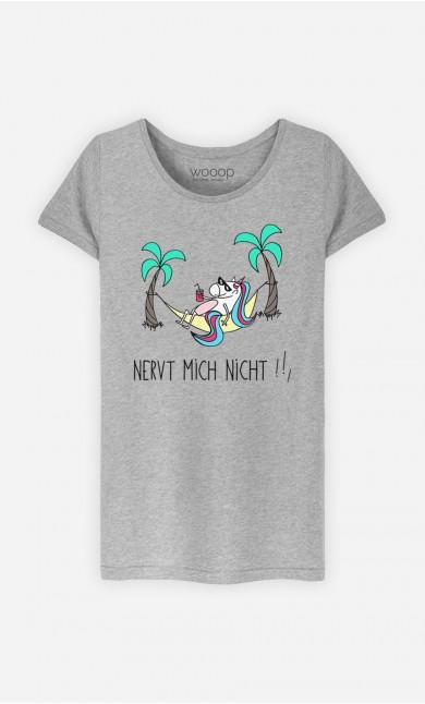 T-Shirt Grau Nervt mich nicht