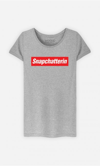 T-Shirt Grau Snapchatterin