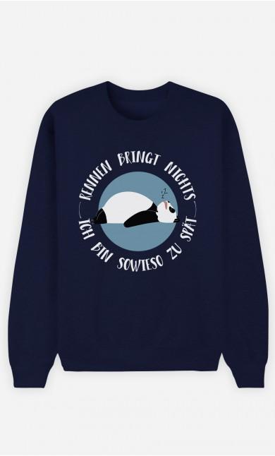 Sweatshirt Blau Ich bin sowieso zu spät