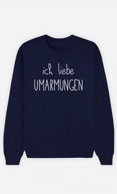 Sweatshirt Blau Ich liebe Umarmungen