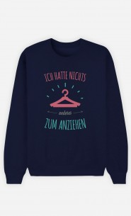 Sweatshirt Blau Nichts anderes zum anziehen