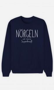 Sweatshirt Blau Nörgeln