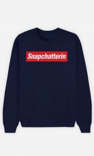 Sweatshirt Blau Snapchatterin