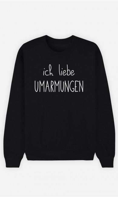 Sweatshirt Schwarz Ich liebe Umarmungen