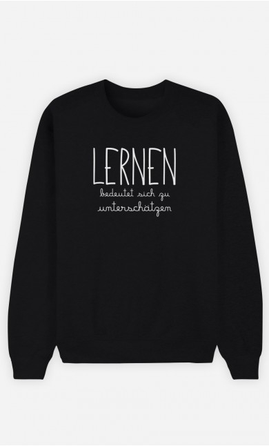 Sweatshirt Schwarz Lernen