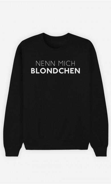 Sweatshirt Schwarz Nenn mich Blondchen