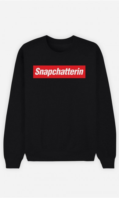 Sweatshirt Schwarz Snapchatterin