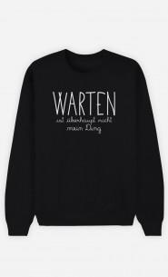 Sweatshirt Schwarz Warten