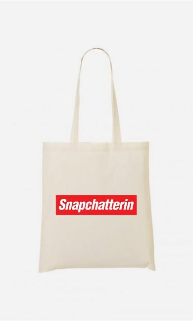 Stoffbeutel Snapchatterin