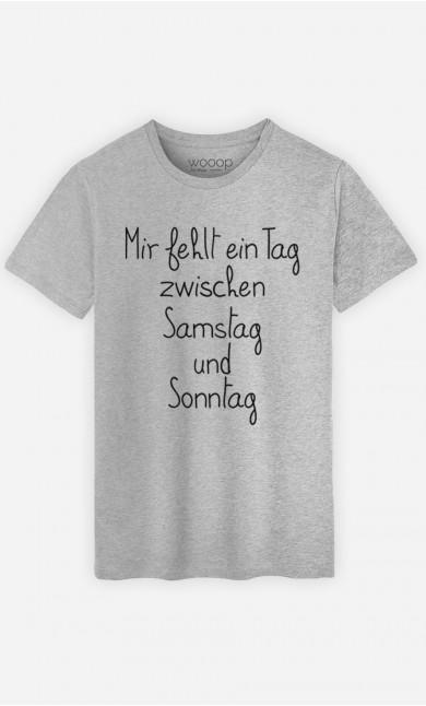 T-Shirt Grau Mir fehlt ein Tag