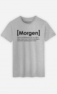 T-Shirt Grau Morgen Definition
