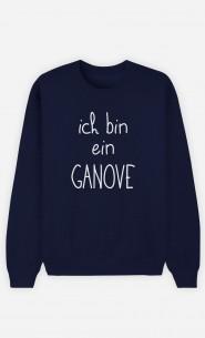 Sweatshirt Blau Ich bin ein Ganove