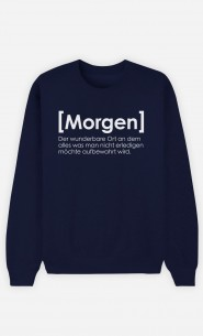Sweatshirt Blau Morgen Definition
