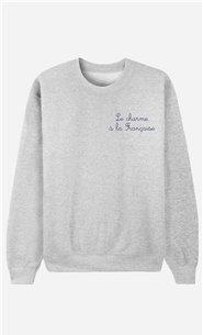 Sweatshirt Le Charme A La Française - bestickt