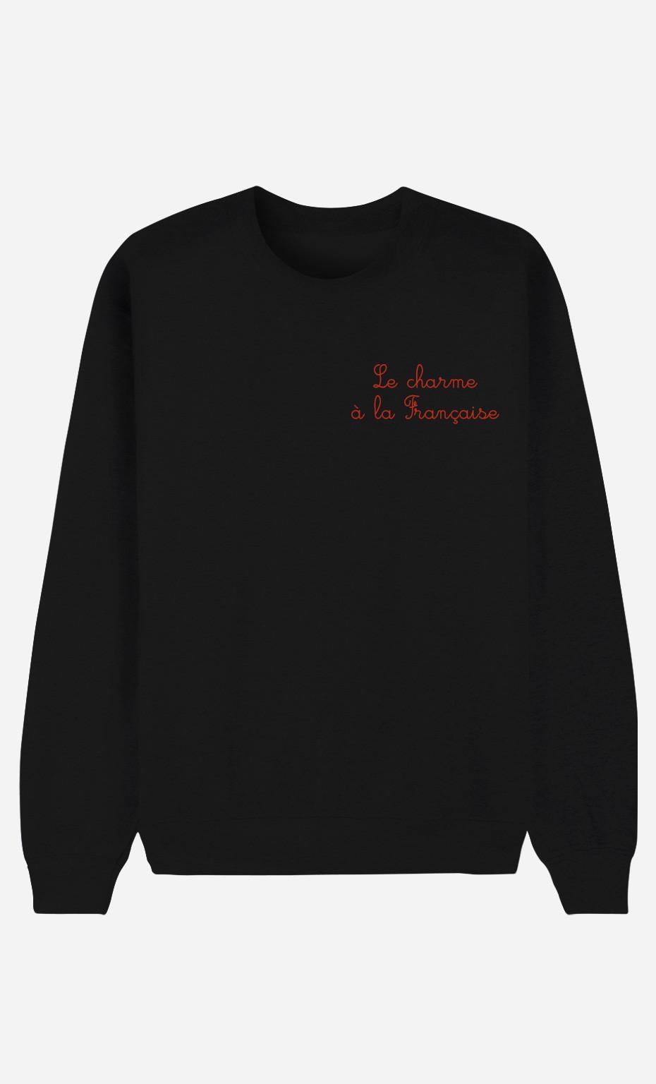 Schwarze Sweatshirt Le Charme A La Française - bestickt