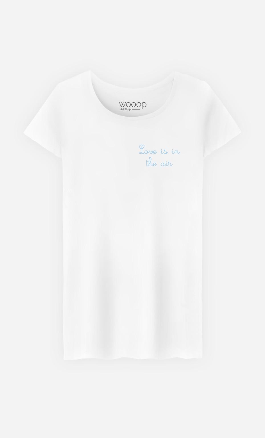 T-Shirt Love is in The Air - bestickt
