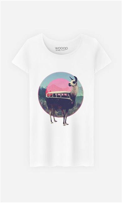 T-Shirt Llama Kombi