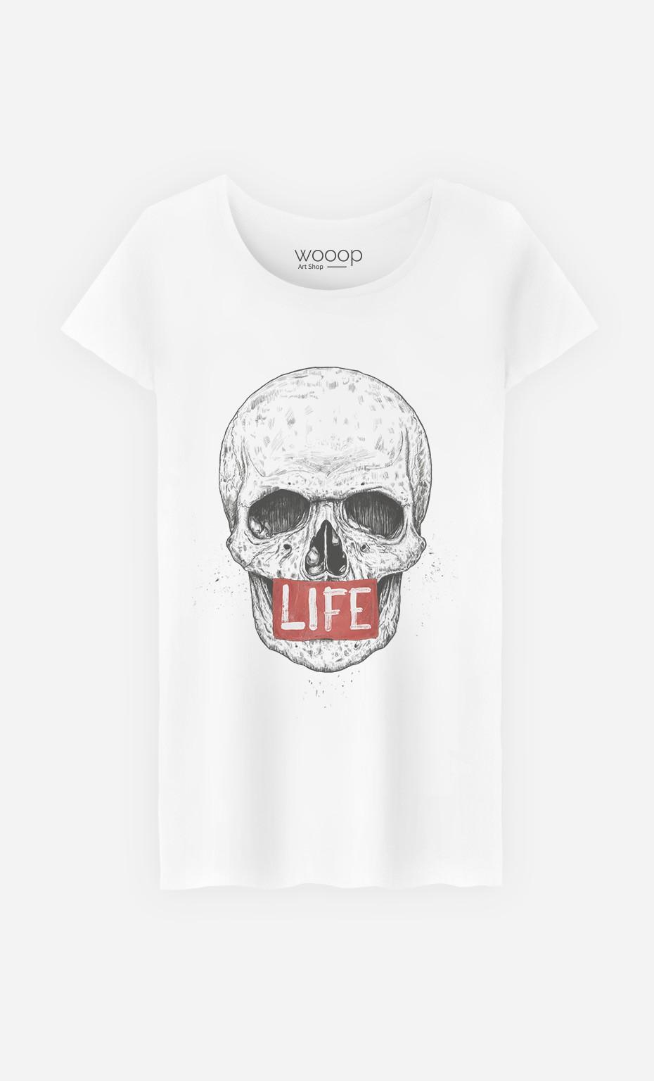 T-Shirt Skull Life