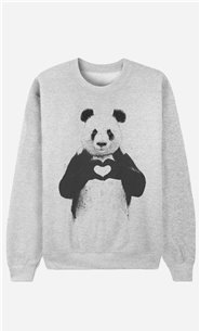 Sweatshirt Love Panda