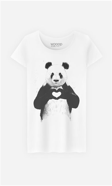 T-Shirt Love Panda