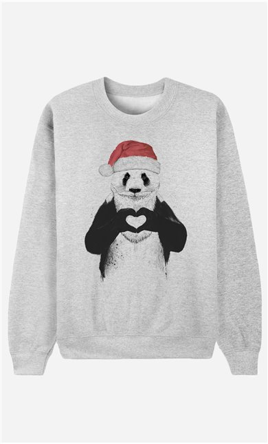 Sweatshirt Santa Panda
