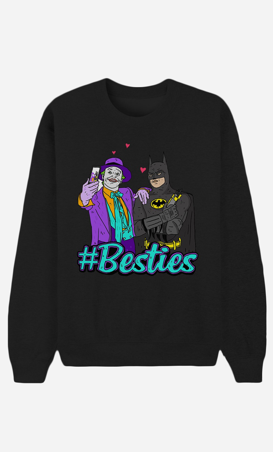 Schwarze Sweatshirt Joker & Batman
