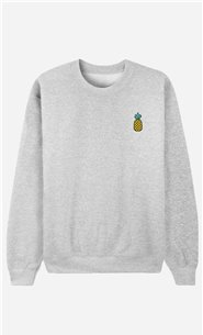 Sweatshirt Ananas - bestickt