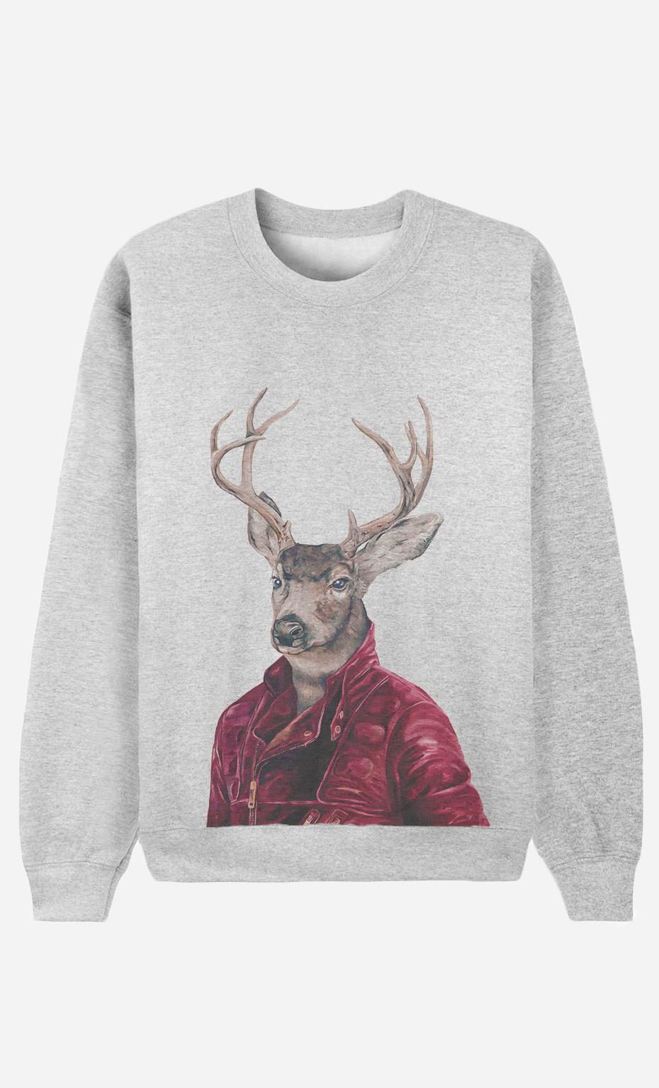 Sweatshirt Red Clad Deer